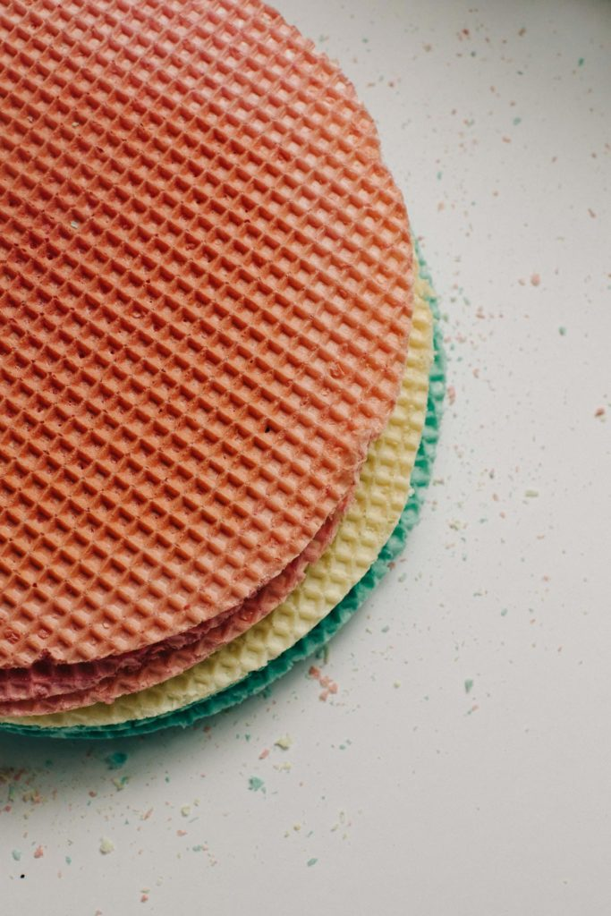 Stack of multicolored wafer desserts in Bethesda, PA