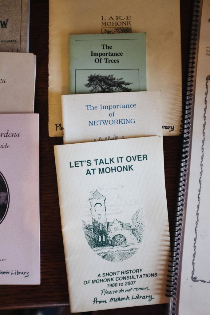 Promotional pamphlets at Mohonk Mountain House in New Paltz New York