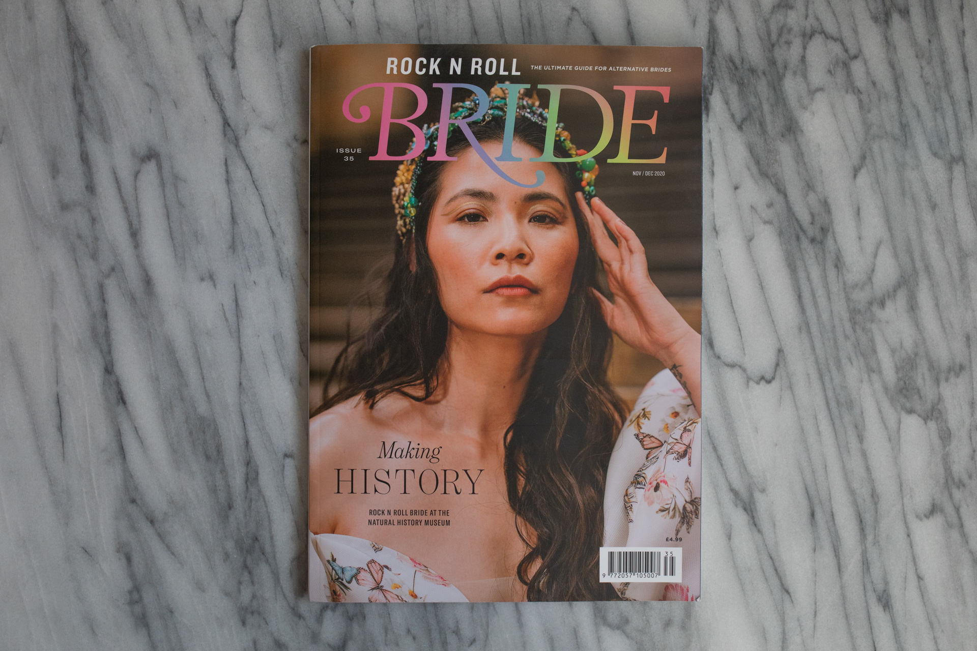 front cover of rock n roll bride magazine